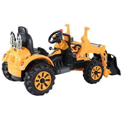 kids ride on excavator truck electric digger
