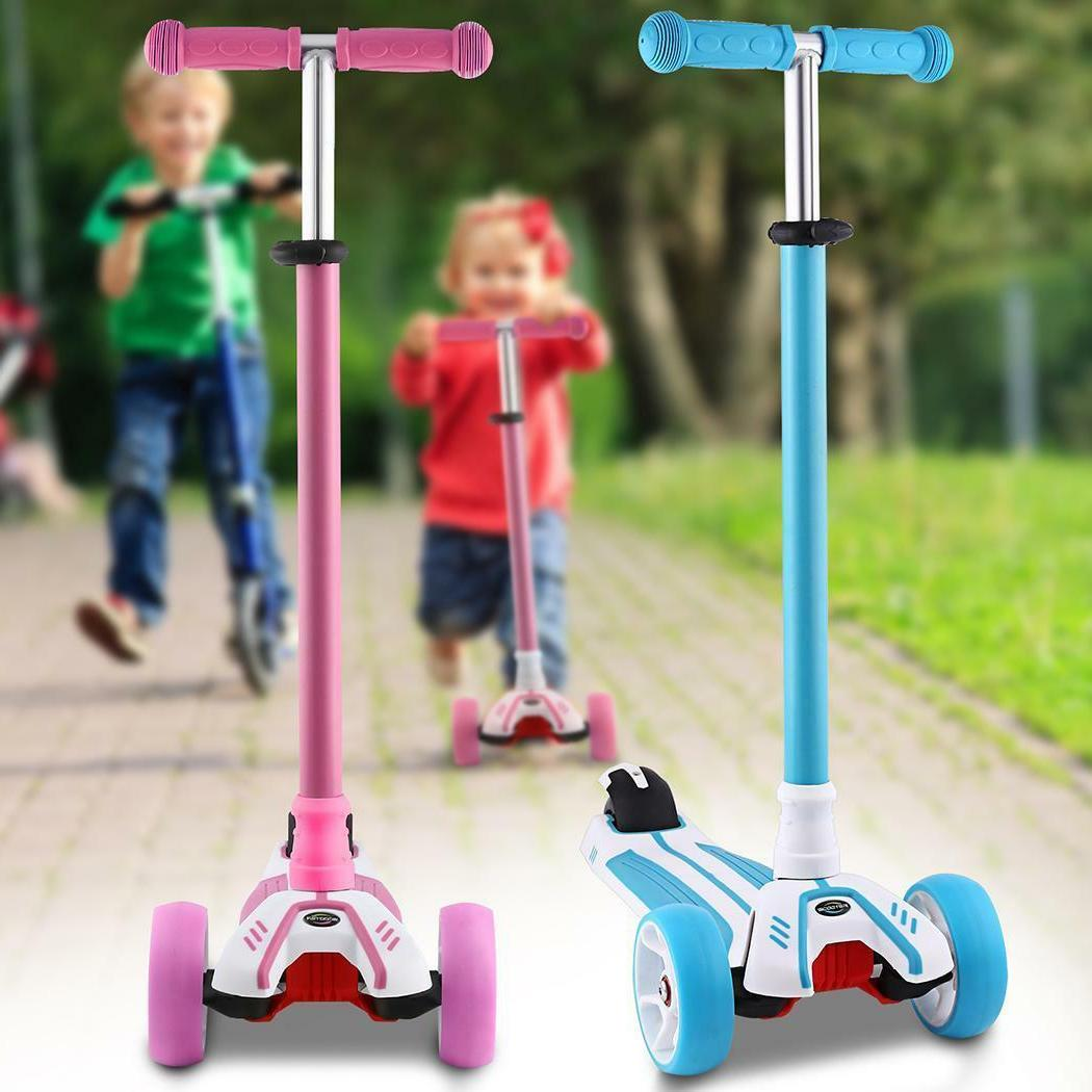 Kids Scooter Age 3-8 Adjustable Scooters Girls Boys 3~LED Wheels
