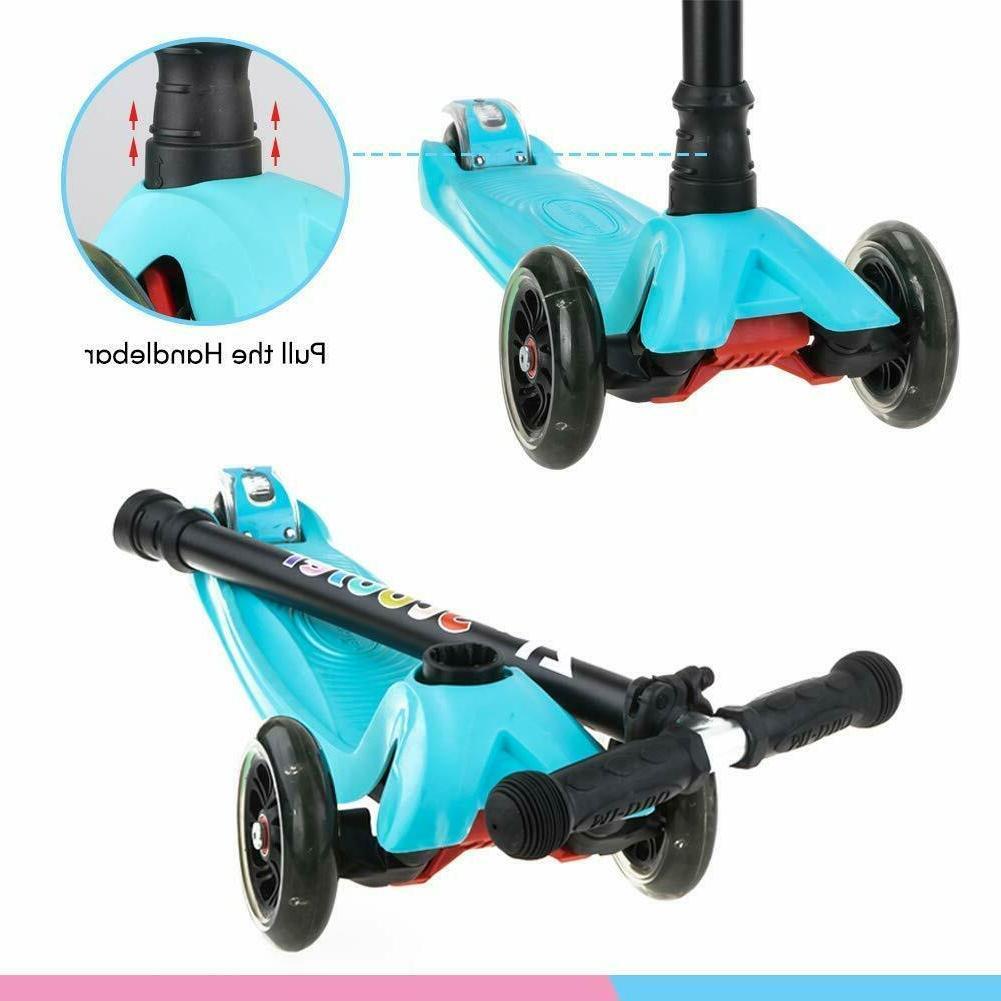 LED Wheel Toddler Adjustable Kick Scooters Boys