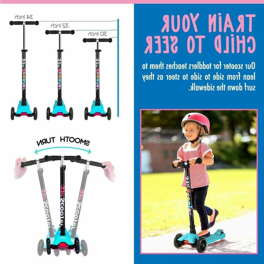 LED Kids 3 Wheel Deluxe for Adjustable Boys