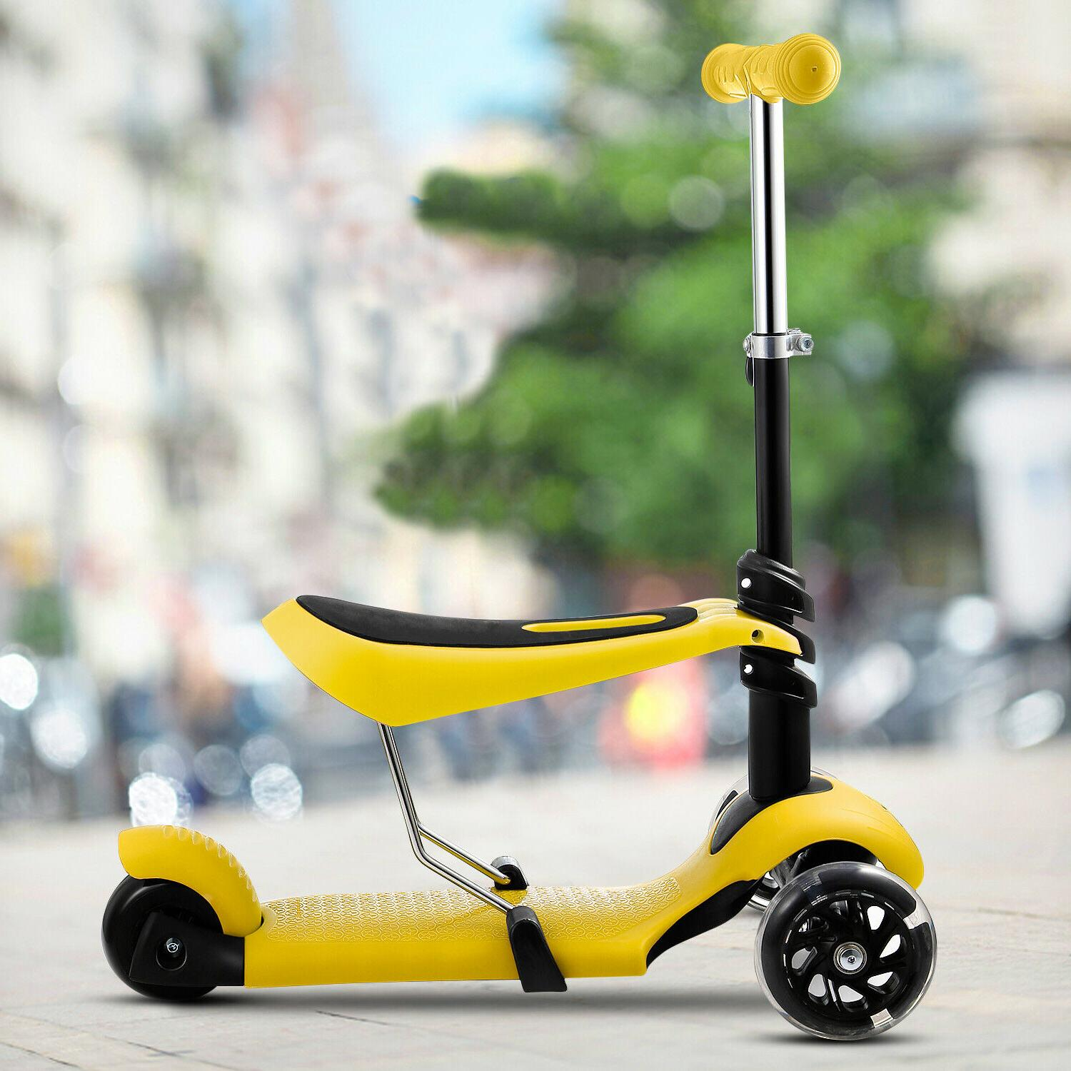 2 in 1 scooter with removable seat