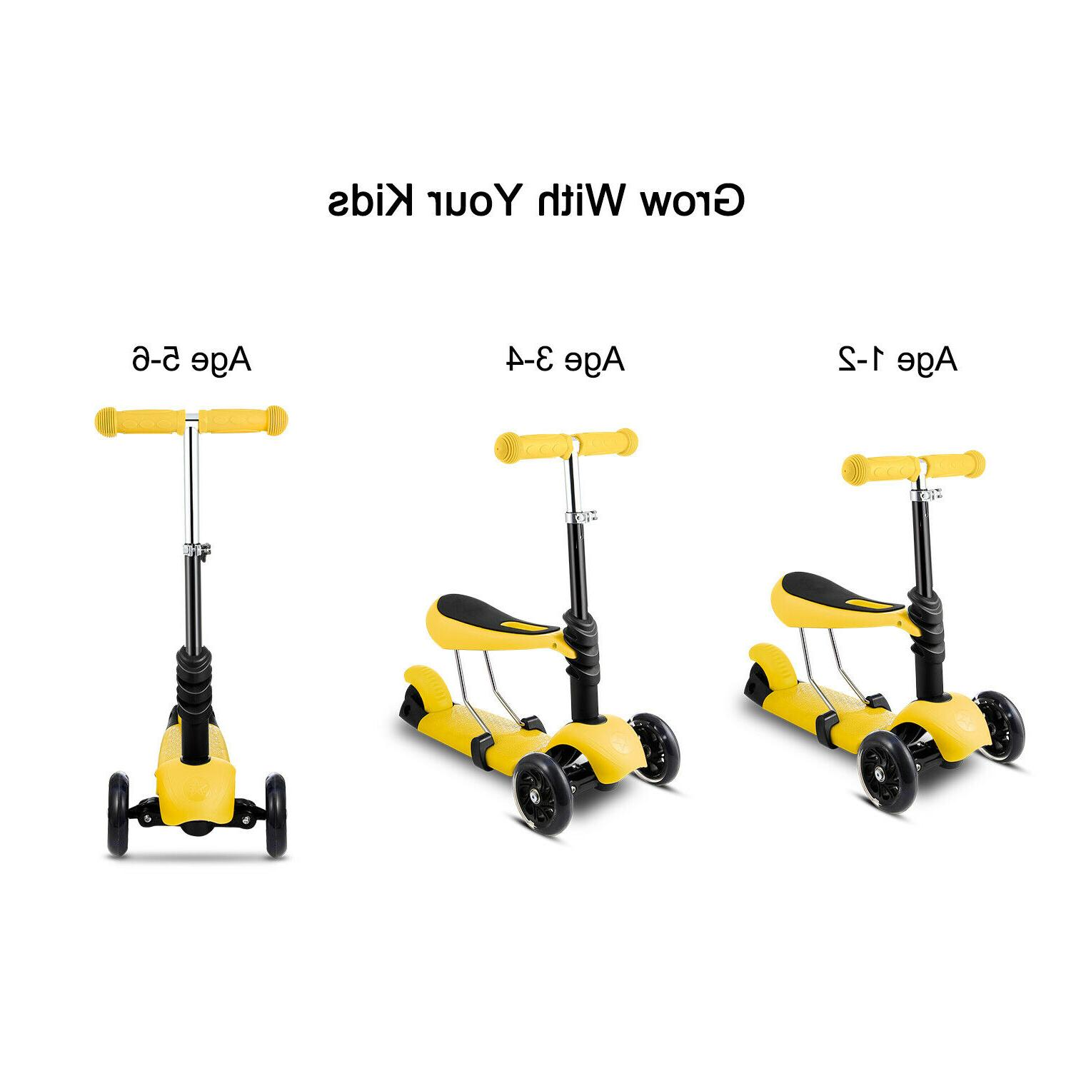 New Kick Kids with 3 Big Light Up Adjustable Height in 1
