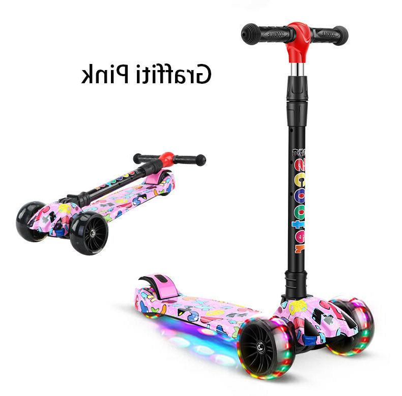 LED Scooter Deluxe 3 Wheel Glider with Lean Turn colors