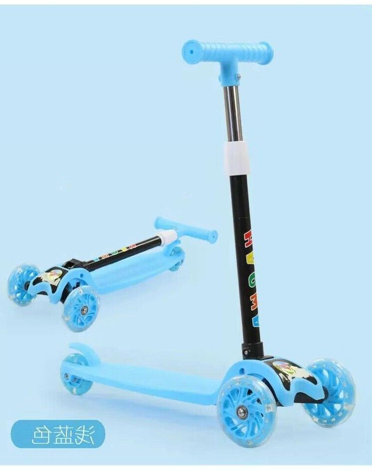LED Scooter Deluxe 3 Wheel Glider with Kick Lean 2 3 colors