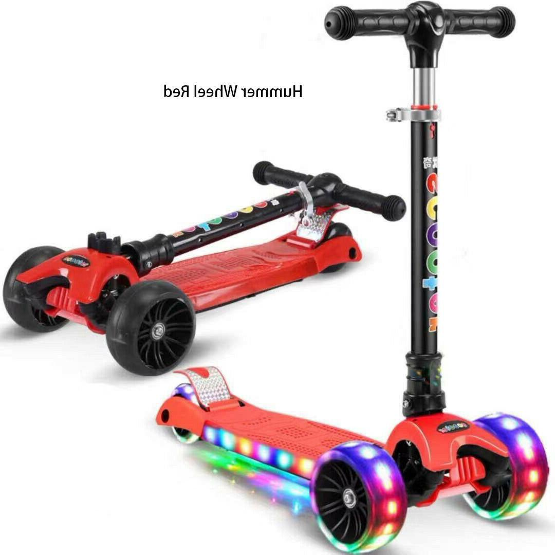 LED Scooter for Kids Deluxe with Lean colors