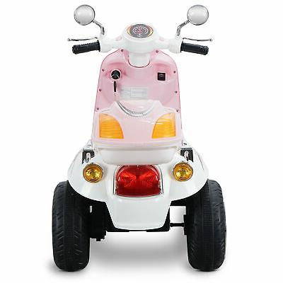 Light Pink On Scooter 6V Toy Powered Electric Horn
