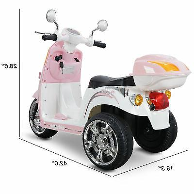 Light Ride Scooter Toy Powered Horn
