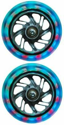 Globber Light Up Scooter Wheels 121mm Set Of 2 for Evo Primo
