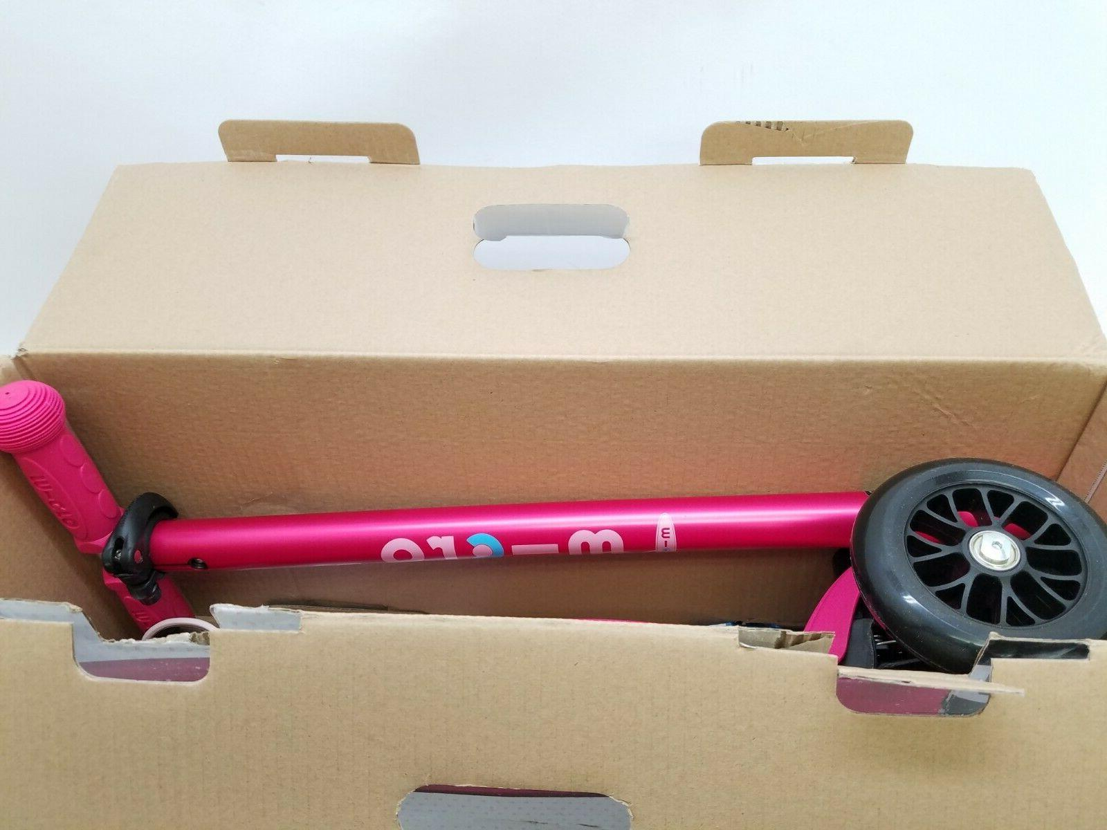 Micro Deluxe 3-Wheeled, Scooter, Pink