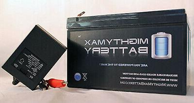 mighty max 12v 12ah battery replaces huffy