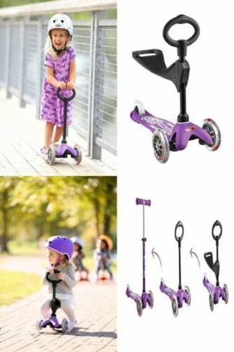 Mini 3in1 Deluxe 3-Stage Ride-on Micro Kick Scooter Toddler