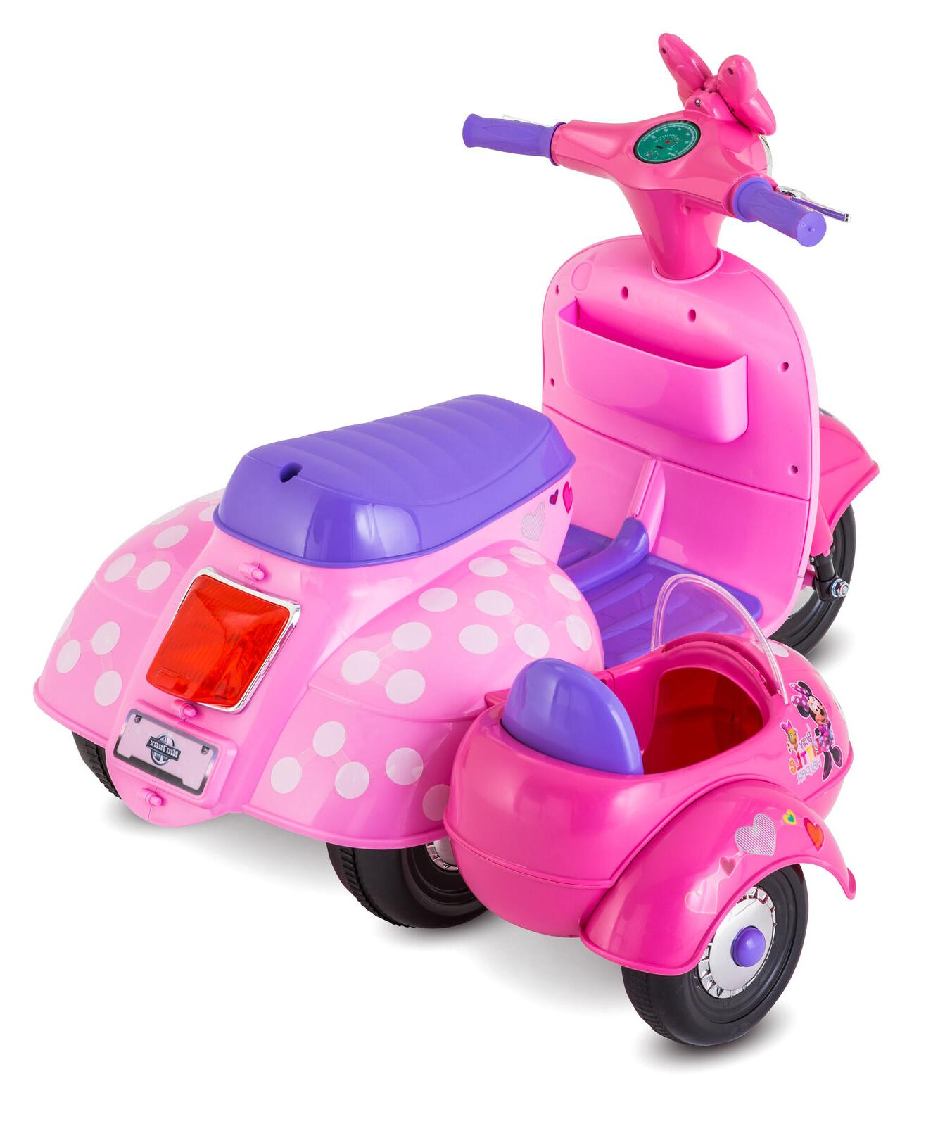 Minnie Scooter Ride On Toy Girls Sidecar Toddler
