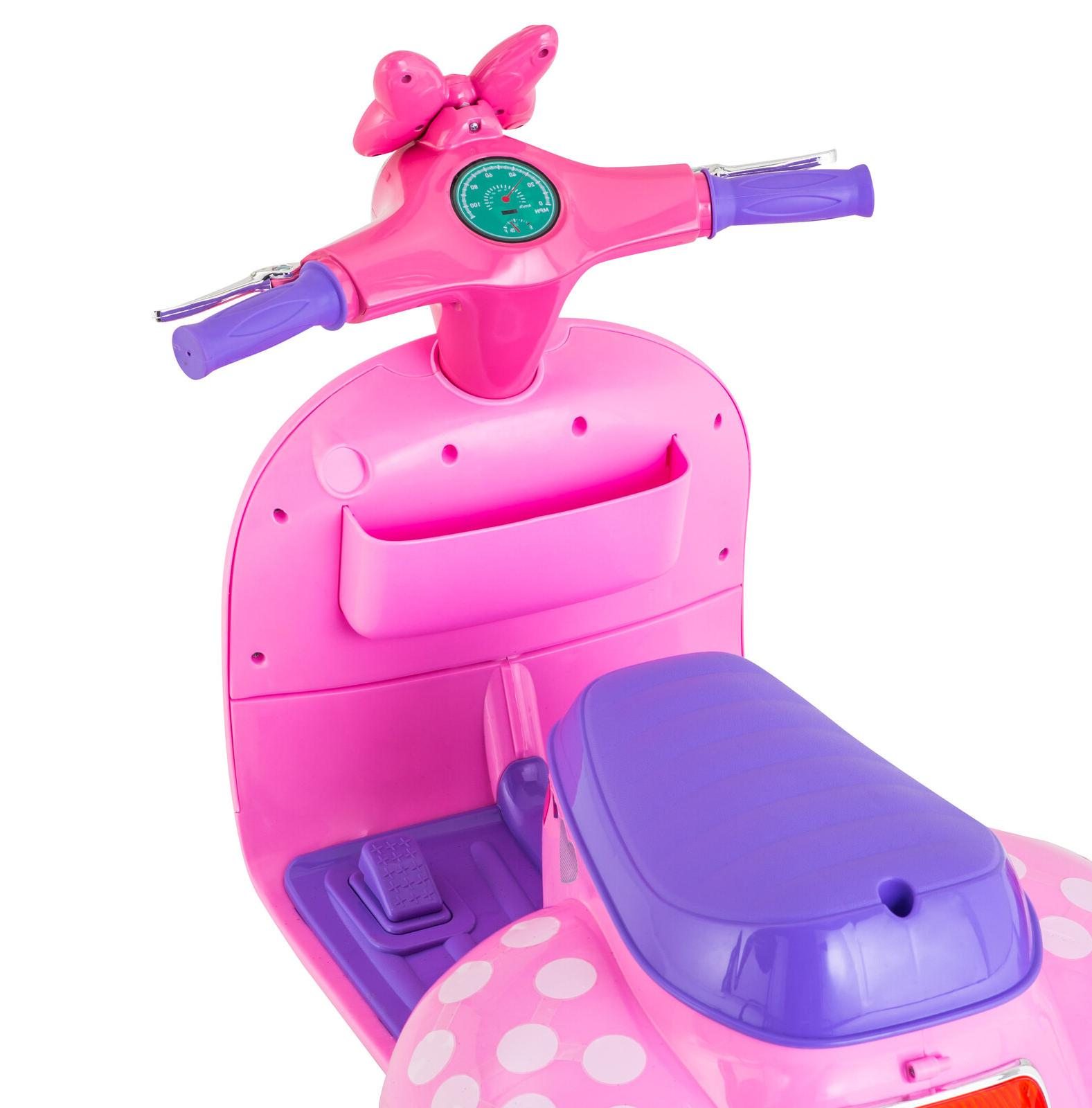 Minnie Mouse Scooter On Girls Sidecar Toddler Kids