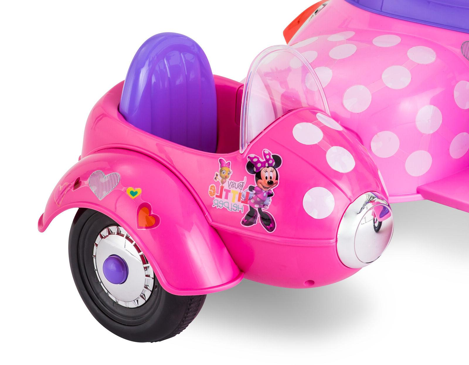 Minnie Scooter On Sidecar 6V Electric Pink Toddler