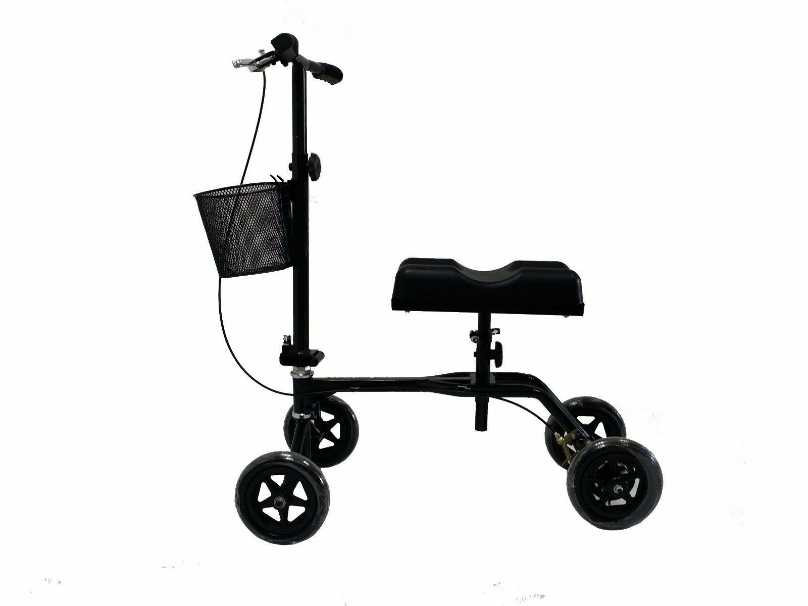 New Steerable Knee Scooter Turning Brake Basket