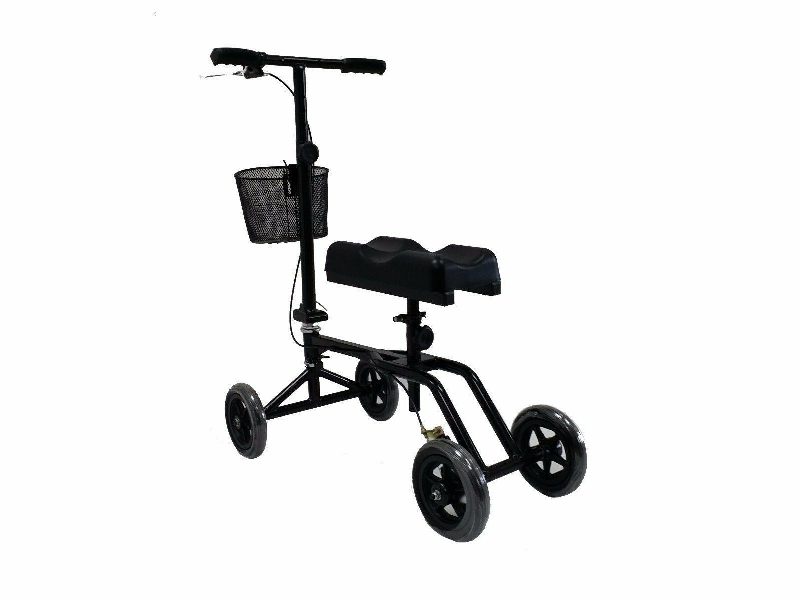 New Black Knee Scooter Brake Basket Drive