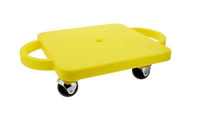 """Plastic Scooter Board in Yellow, 12"""" x 12"""" Inches, Wide"""