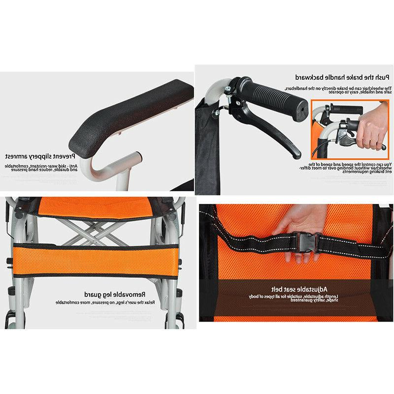 Portable Ultra Lightweight Wheelchair Handcart