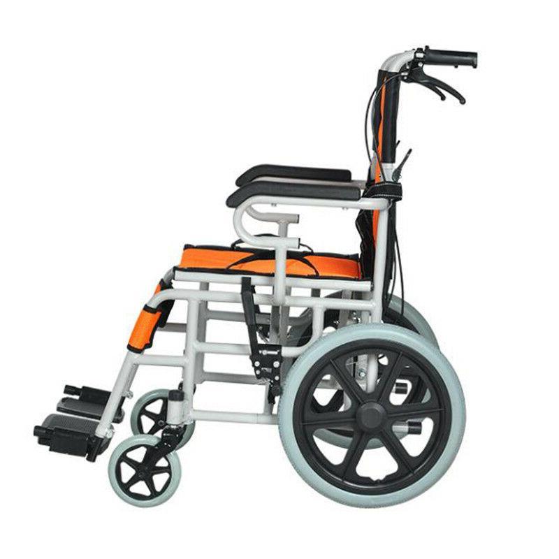 Portable Lightweight Folding Wheelchair Travel