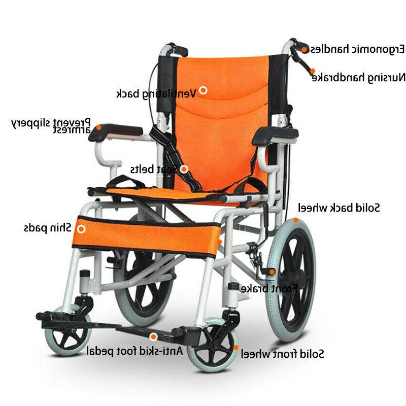 portable ultra lightweight folding wheelchair travel transpo