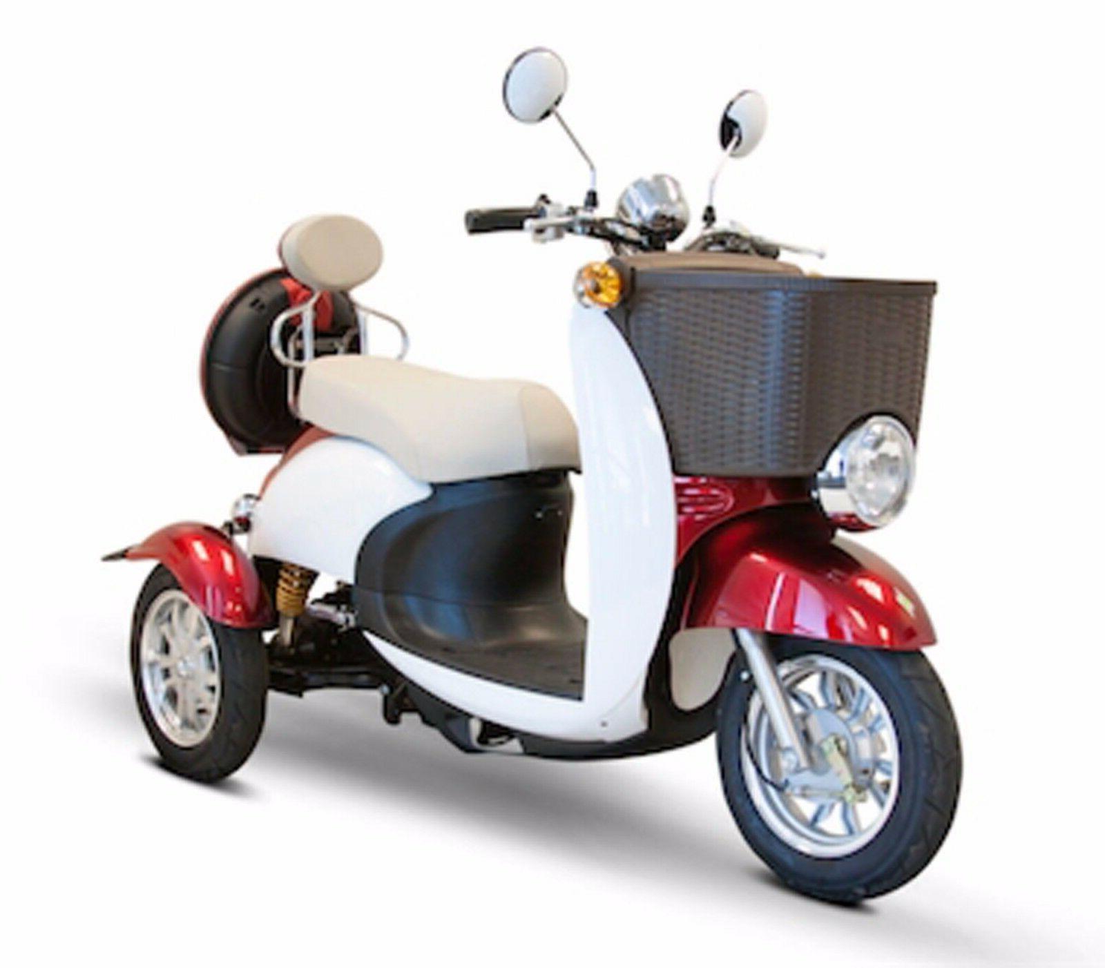 Red & White EWheels EW-11 Sport Electric Scooter, 3 Wheels,