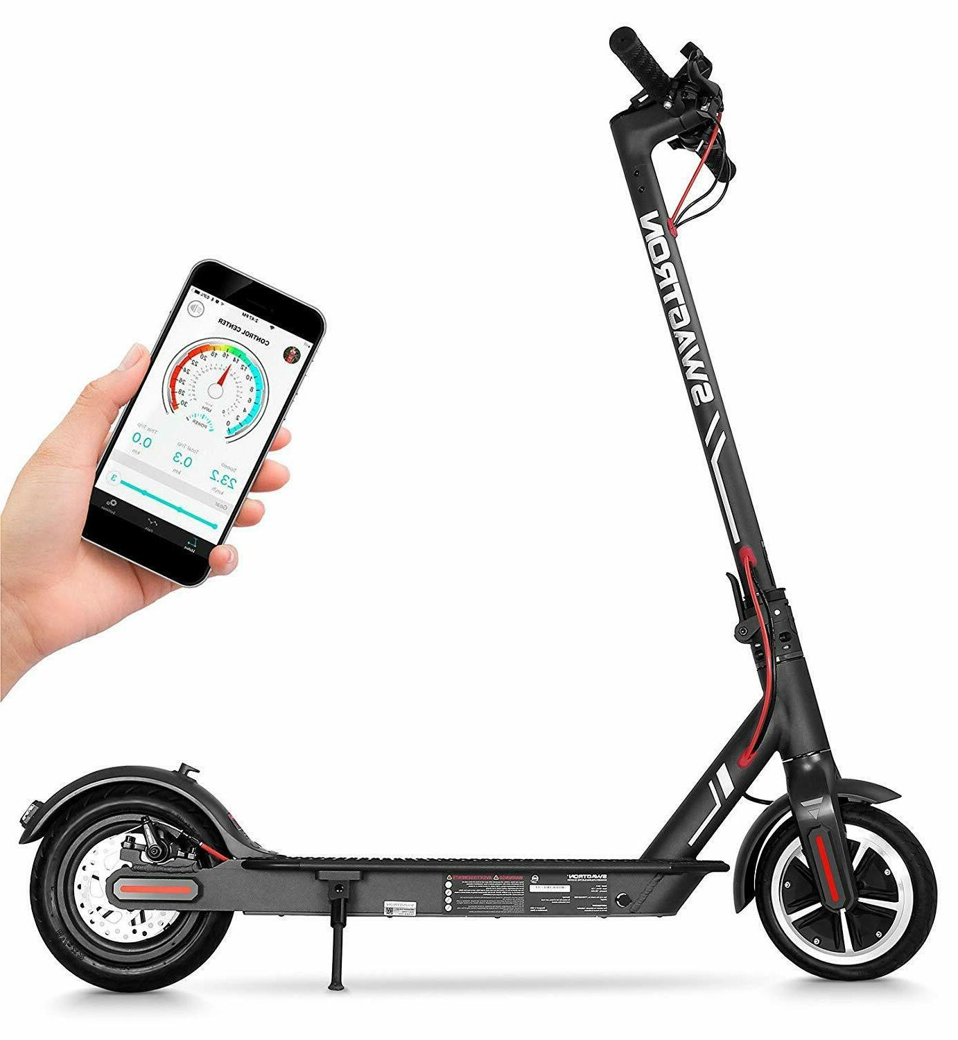 """Swagtron High Speed Electric Scooter 8.5"""" Cushioned Tires"""