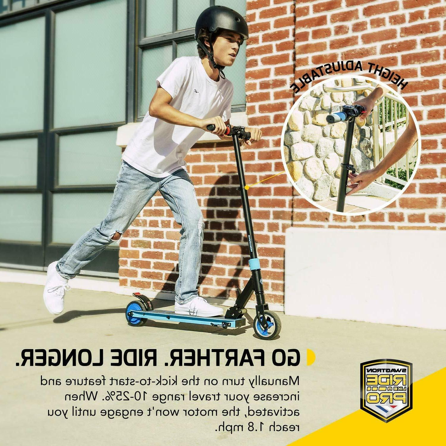 Swagtron Electric Scooter Teens Cruise Quiet