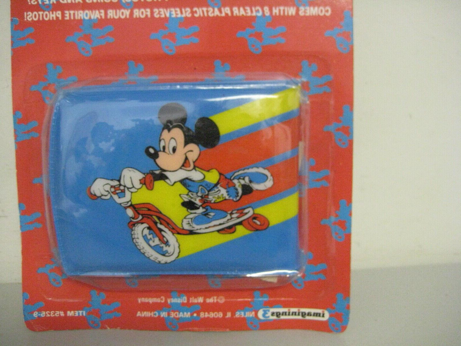 Vintage Mickey Mouse Scooter Plastic Wallet