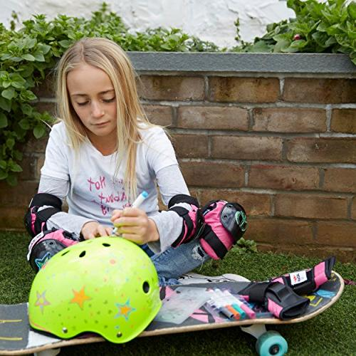 Wipeout Dry Erase Kids' Bike, Skate, Helmet, Pink, 8+