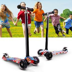 LED Scooter for Kids Luxury 3 Wheel Glider Adjustable With K