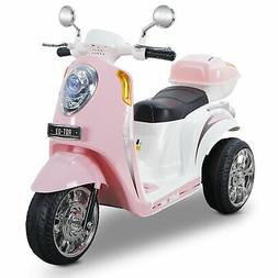 Light Pink Ride On Scooter 6V Toy Battery Powered Electric B