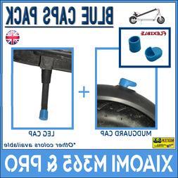 XIAOMI M365 & PRO Blue Caps Rubber Pack Mudguard + Leg Scoot