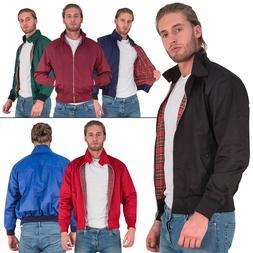 New Mens Classic Harrington Elasticated Cuff Front Pockets Z