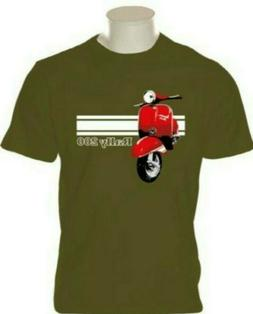 MENS RALLY 200 MOTOR SCOOTER T SHIRT FOR MODS SCOOTERBOYS SK