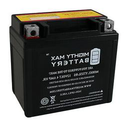 Mighty Max YTX5L-BS Battery Replaces Yamaha Raptor Polaris K