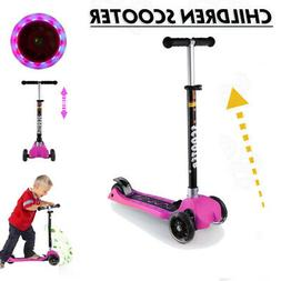 Mini Folding Scooter for Kids - Deluxe 3 Wheel Glider With M
