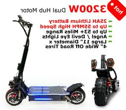 NEW 3200W Off Road Electric Kick Scooter Ultra High Speed 25