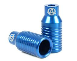 NEW APEX Pegs Bowie Blue Scooter Freestyle Push Stunt Pegs -