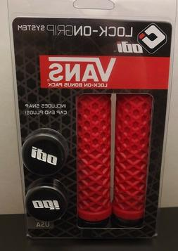 New ODI VANS LOCK-ON GRIP SYSTEM WAFFLE BMX Grips Scooter BM