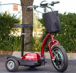 NEW ZOOME 3-Wheel Recreational Electric Mobility Scooter Red
