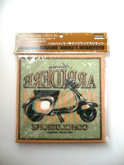 Old Classic Vintage SCOOTER Decorative Fabric Board Sign Wal