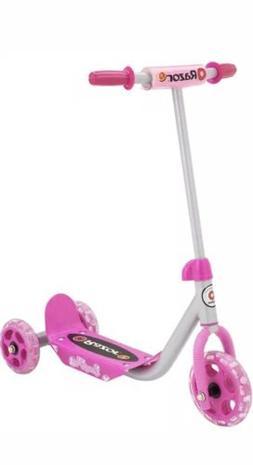 ORIGINAL NEW Razor Jr. Lil' Pink Kick Scooter 3 Wheel for 3