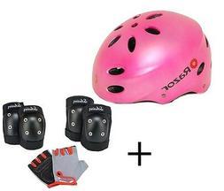 PINKKY Kid Safety Kit Helmet+ Pad Set Knee-Elbow-Glove for S