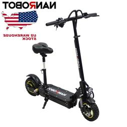 POWEFUL ELETRIC SCOOTER NANROBOT D3 WITH SEAT 800W 48V High