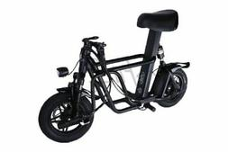 q1s seated electric scooter black