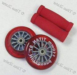 RED 110mm Wheels Bearings Handle Grips Replacement Set for R