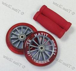 RED 125mm Wheels Bearings Handle Grips Replacement Set for R