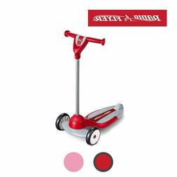 Red Scooter 50lbs Weight Capacity Wide Base Hand Grips Textu