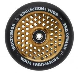 Root Industries 110mm Honeycore Wheels - Black and Gold - Pr