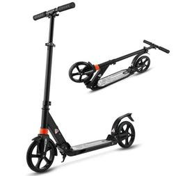 WeSkate Scooter for Adults/Teens, Big Wheels Black with Dual